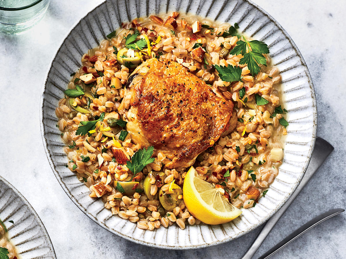 Slow-Cooker Mediterranean Chicken and Farro