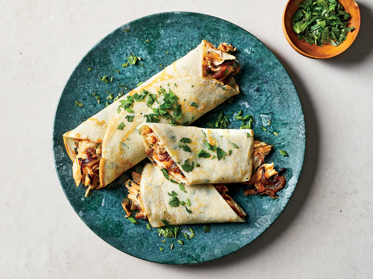 Chicken and Herb Crêpes