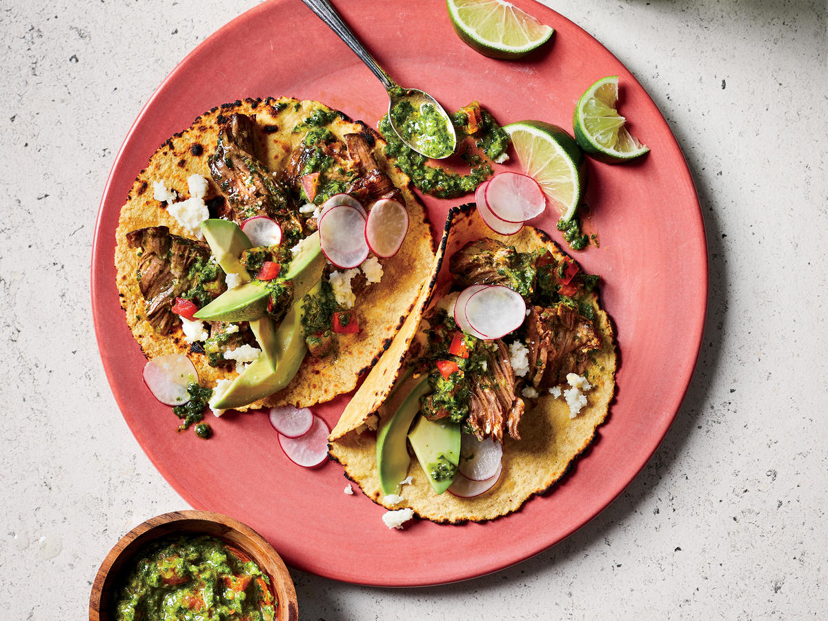 Pot Roast Tacos with Chimichurri