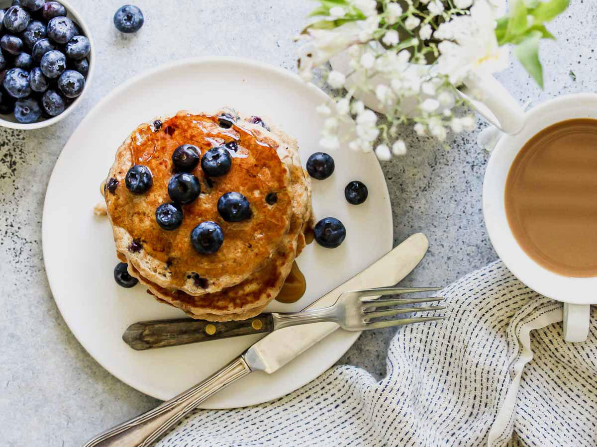 Blueberry Chai Pancakes