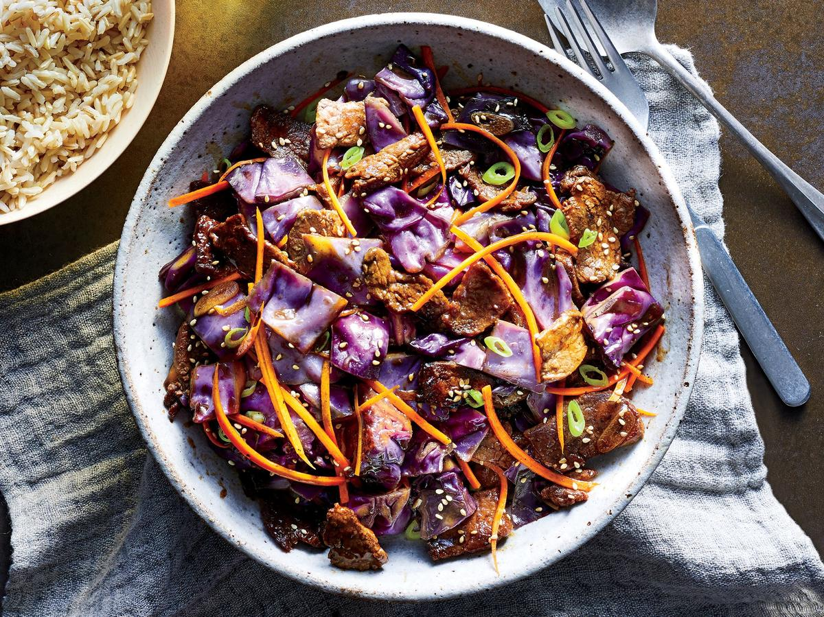 Beef and Cabbage Stir-Fry