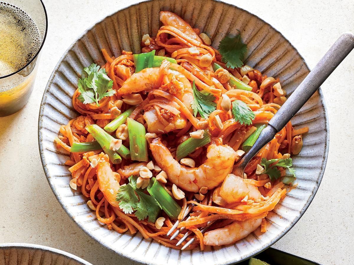 Wednesday: Spicy Shrimp Noodles