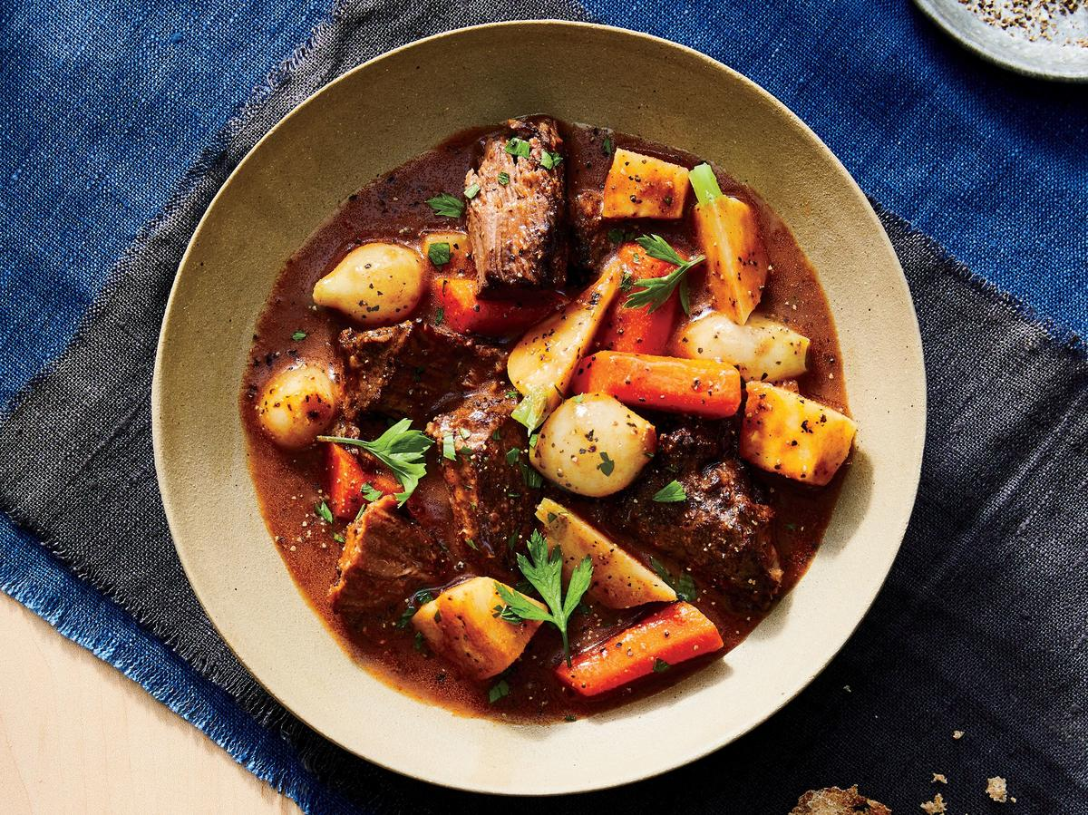 Peppery Beef Stew with Root Vegetables