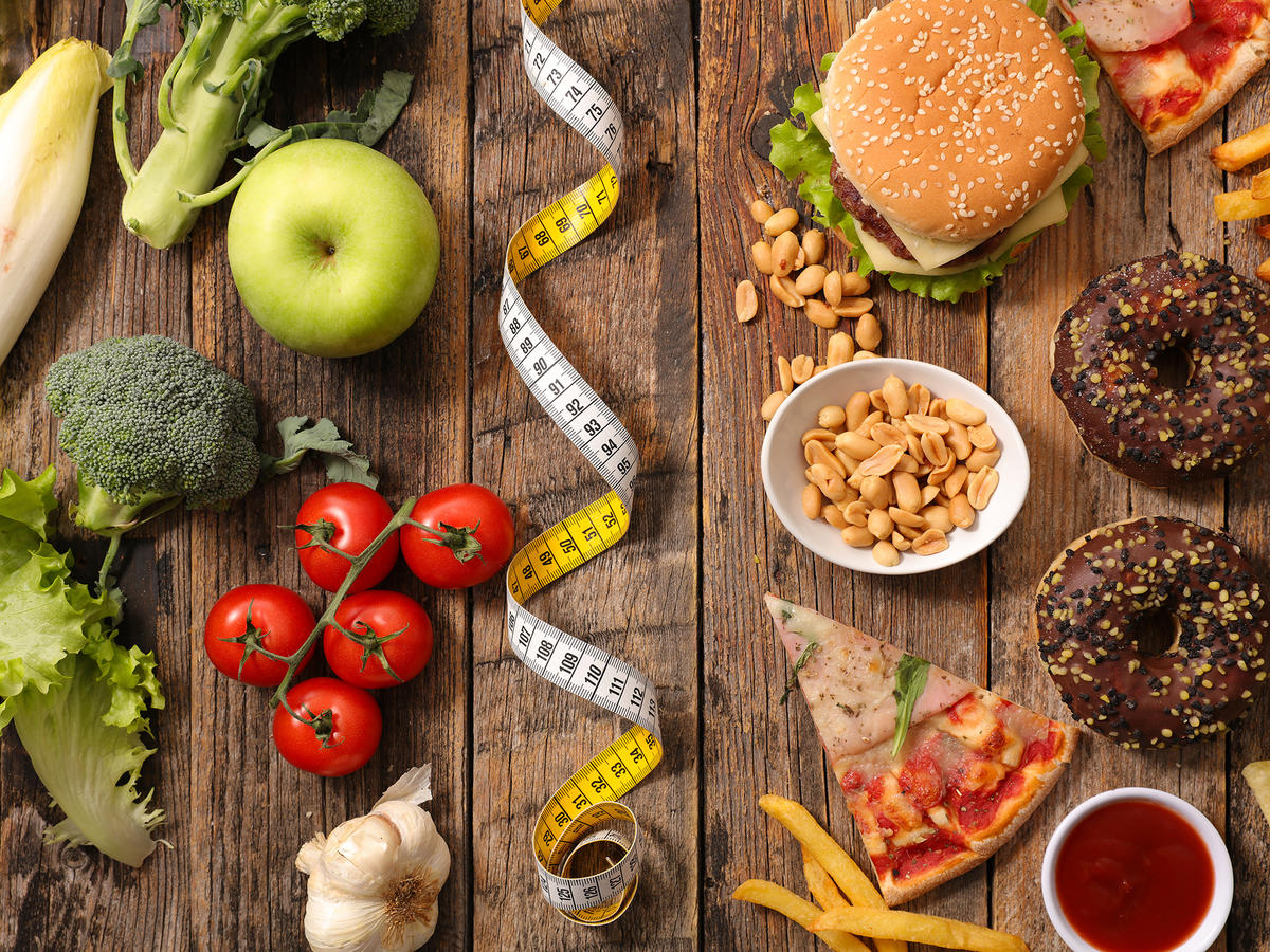 Healthy Food and Junk Food EVERGREEN