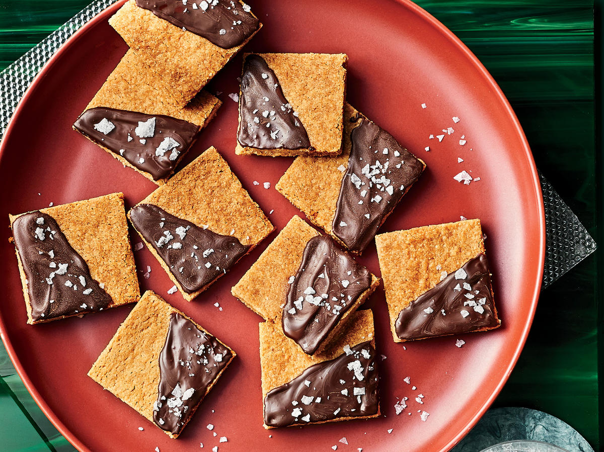 Salted Chocolate-Topped Shortbread