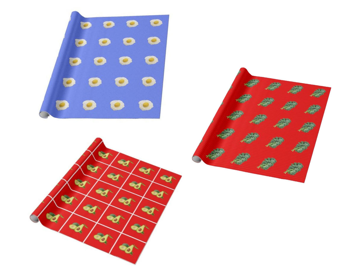 1811w Custom Holiday Food Wrapping Paper