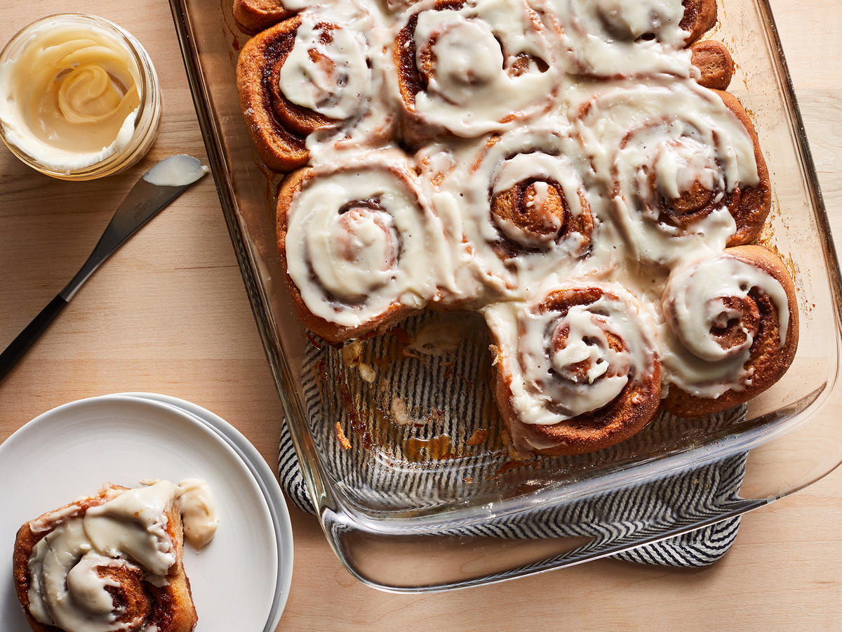 Whole-Wheat Cinnamon Rolls With Maple Glaze