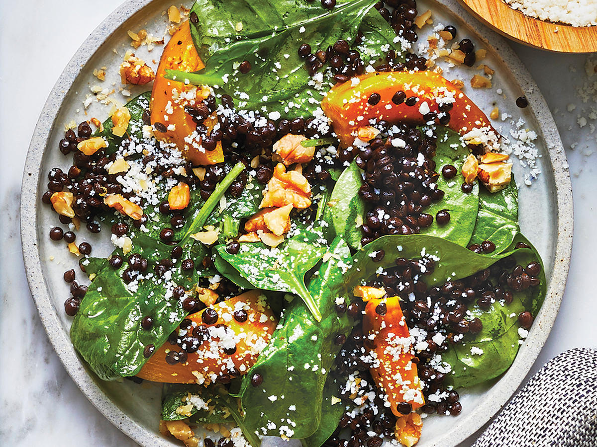Lentil Salad with Beets and Spinach
