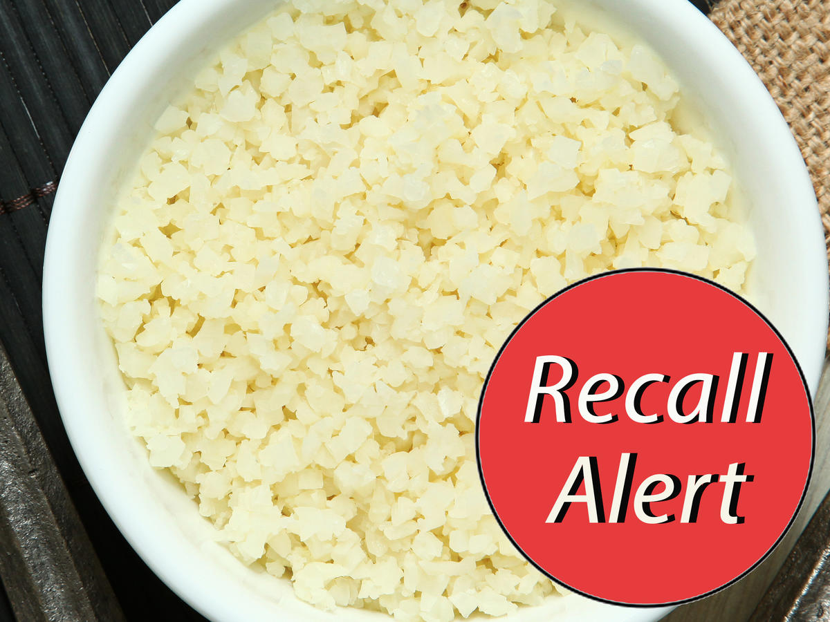 1812w Riced Cauliflower Recall