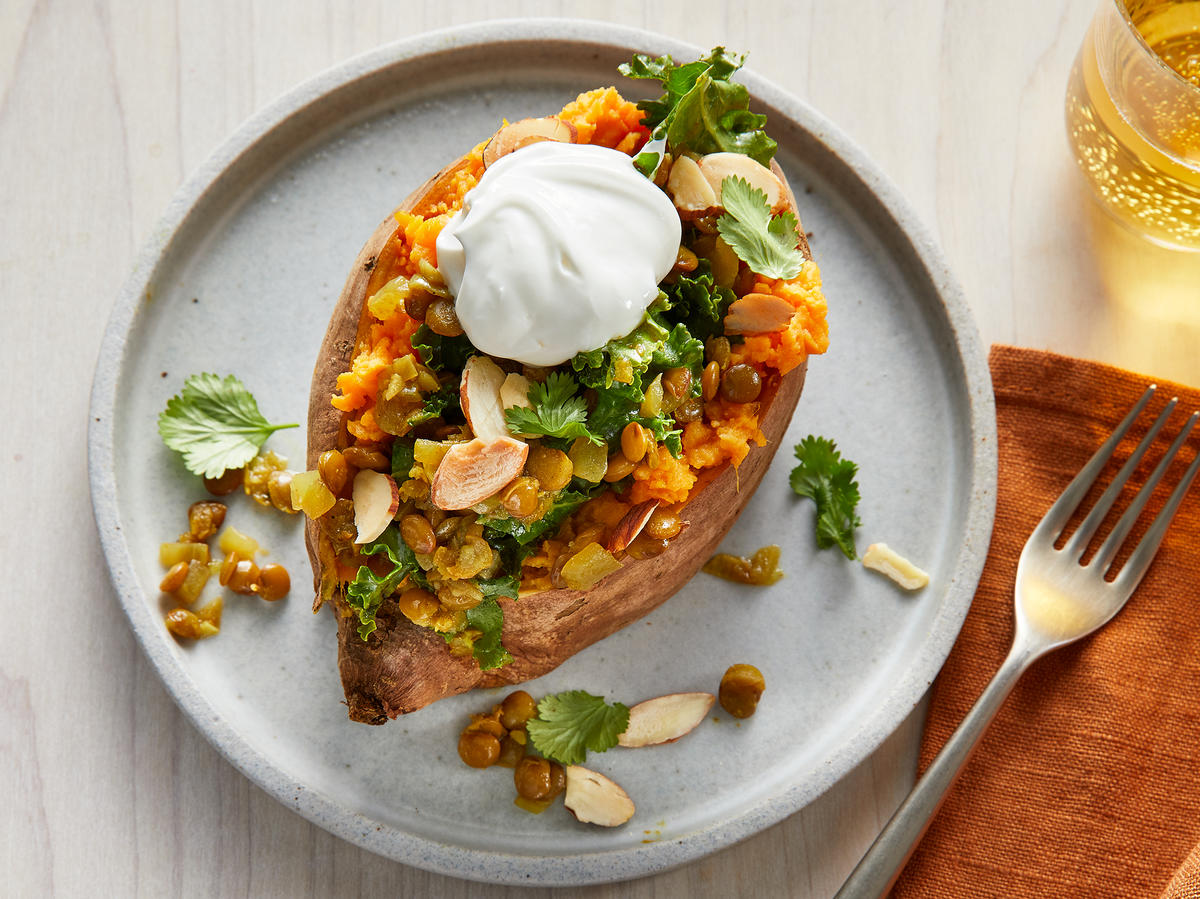 Wednesday: Vegetarian Stuffed Sweet Potatoes