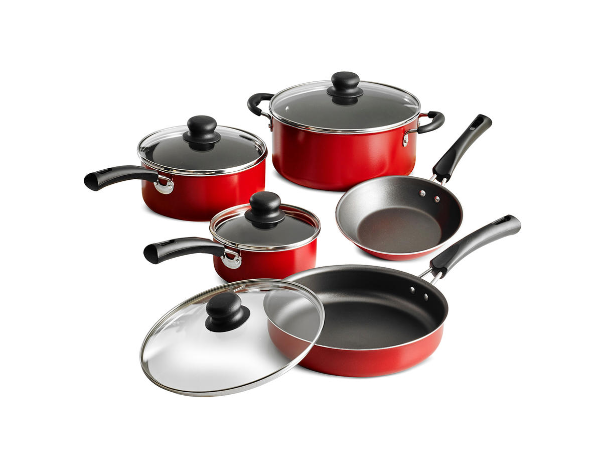 Tramontina Non-Stick Red Cookware 9-Piece Set