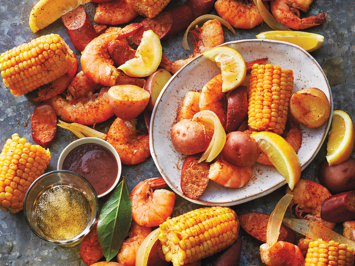 Monday: Easy Slow Cooker Shrimp Boil