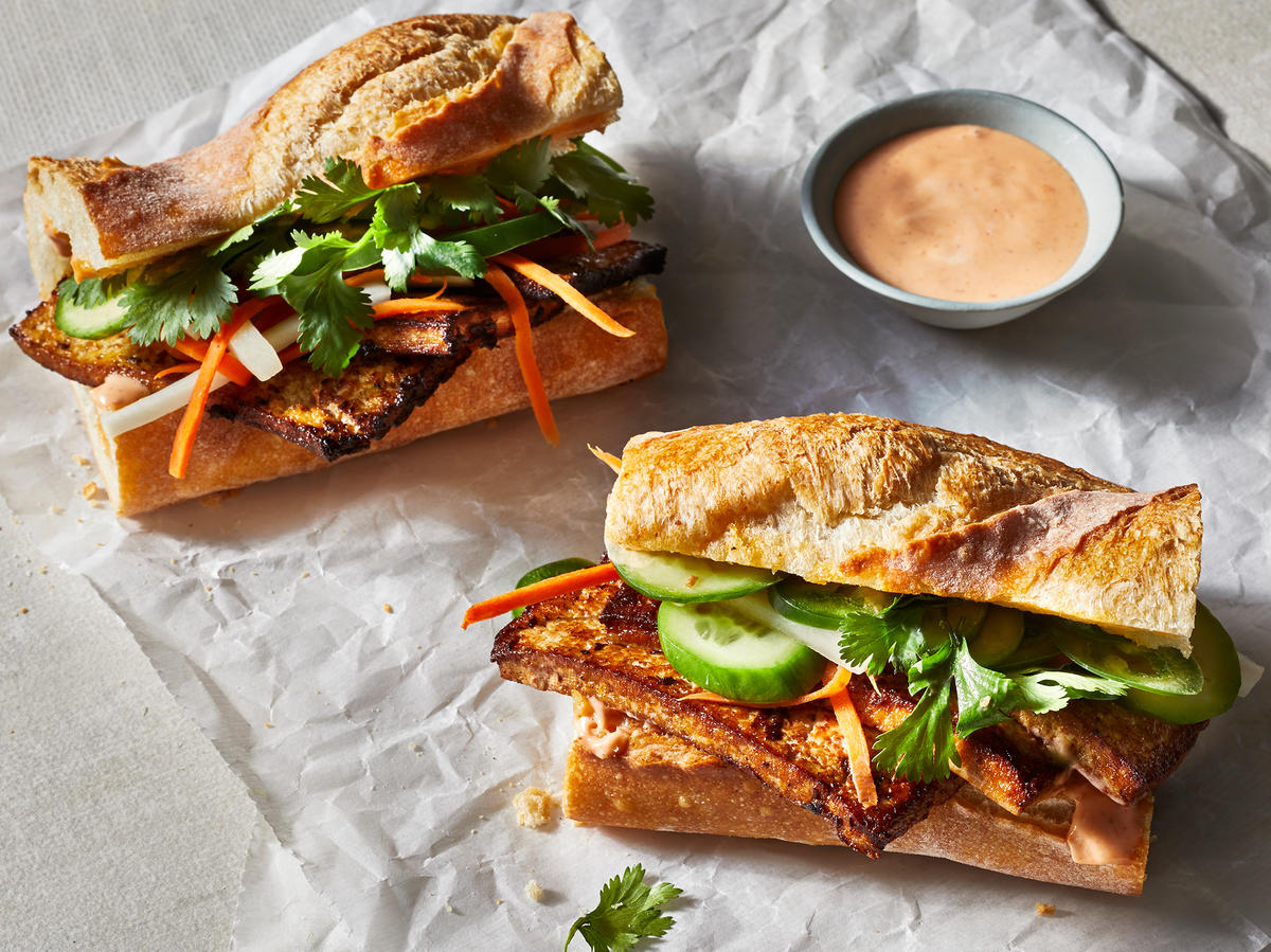 Vegetarian Banh Mi With Crispy Tofu