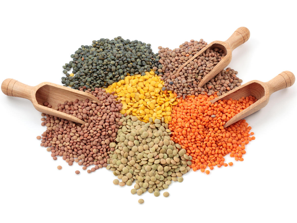 Lentils of various colors
