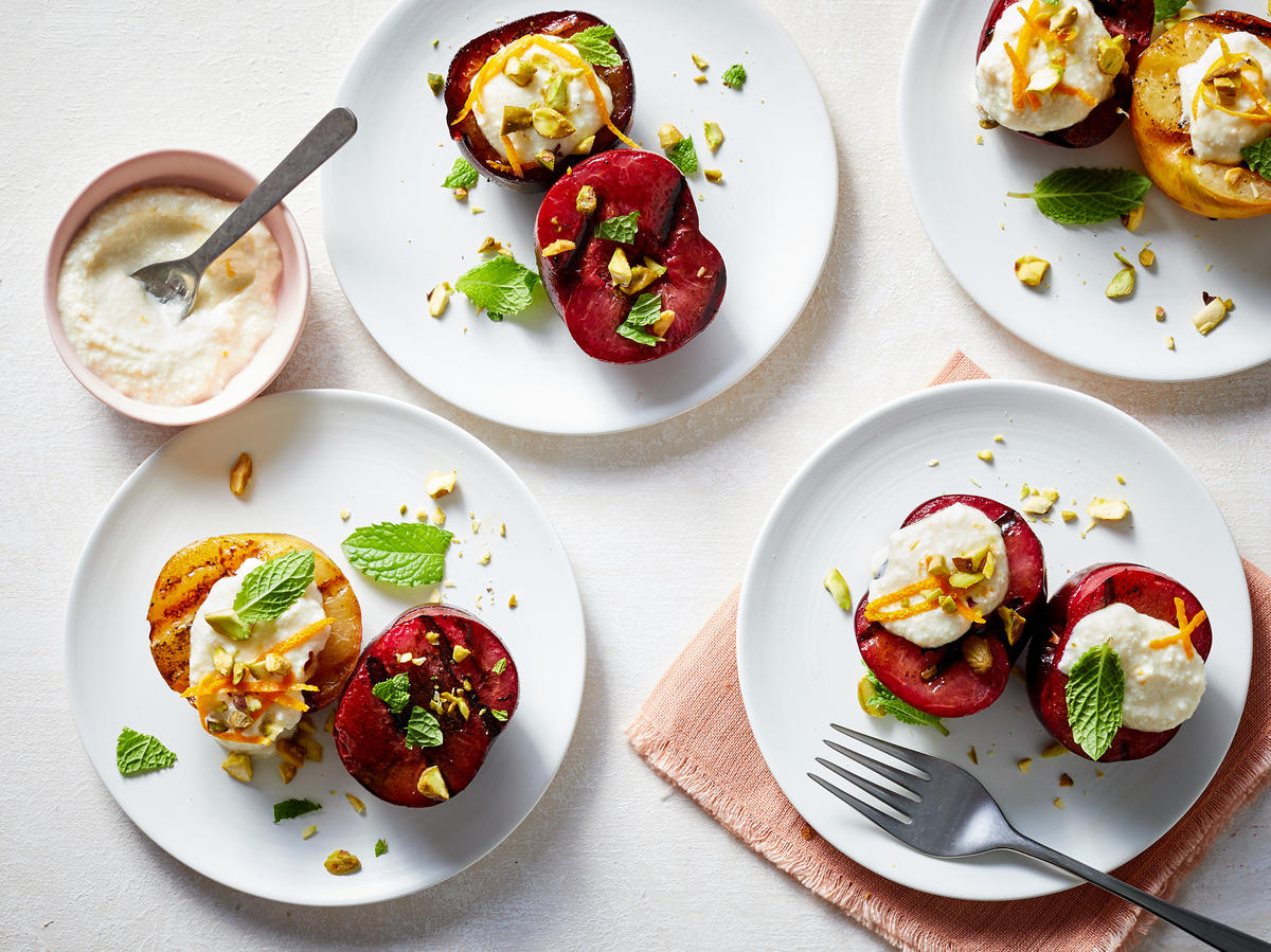 Treat Yourself: Grilled Plums With Ricotta and Honey
