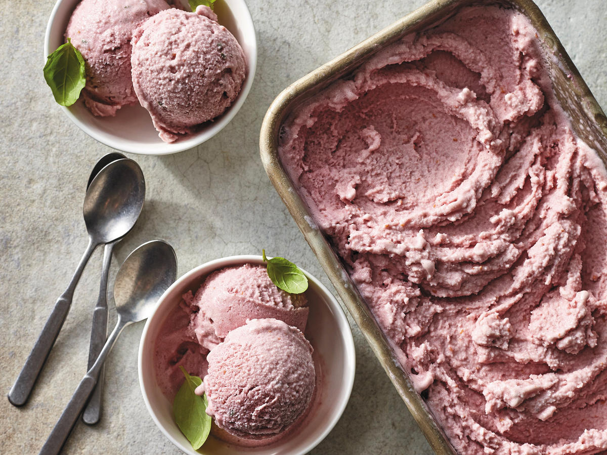 "Treat Yourself: Strawberry-Basil ""Nice"" Cream"