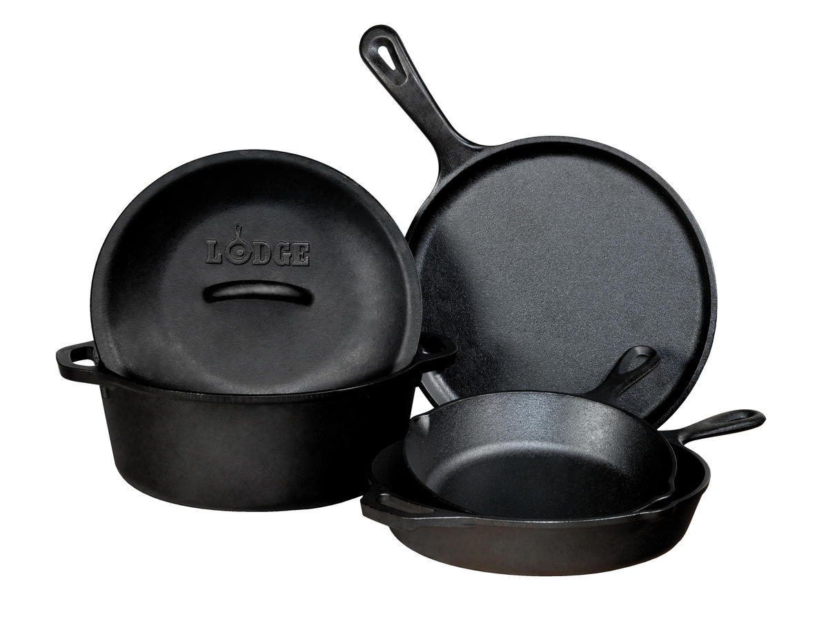 Lodge Pre-seasoned Cast Iron 5 Piece Set