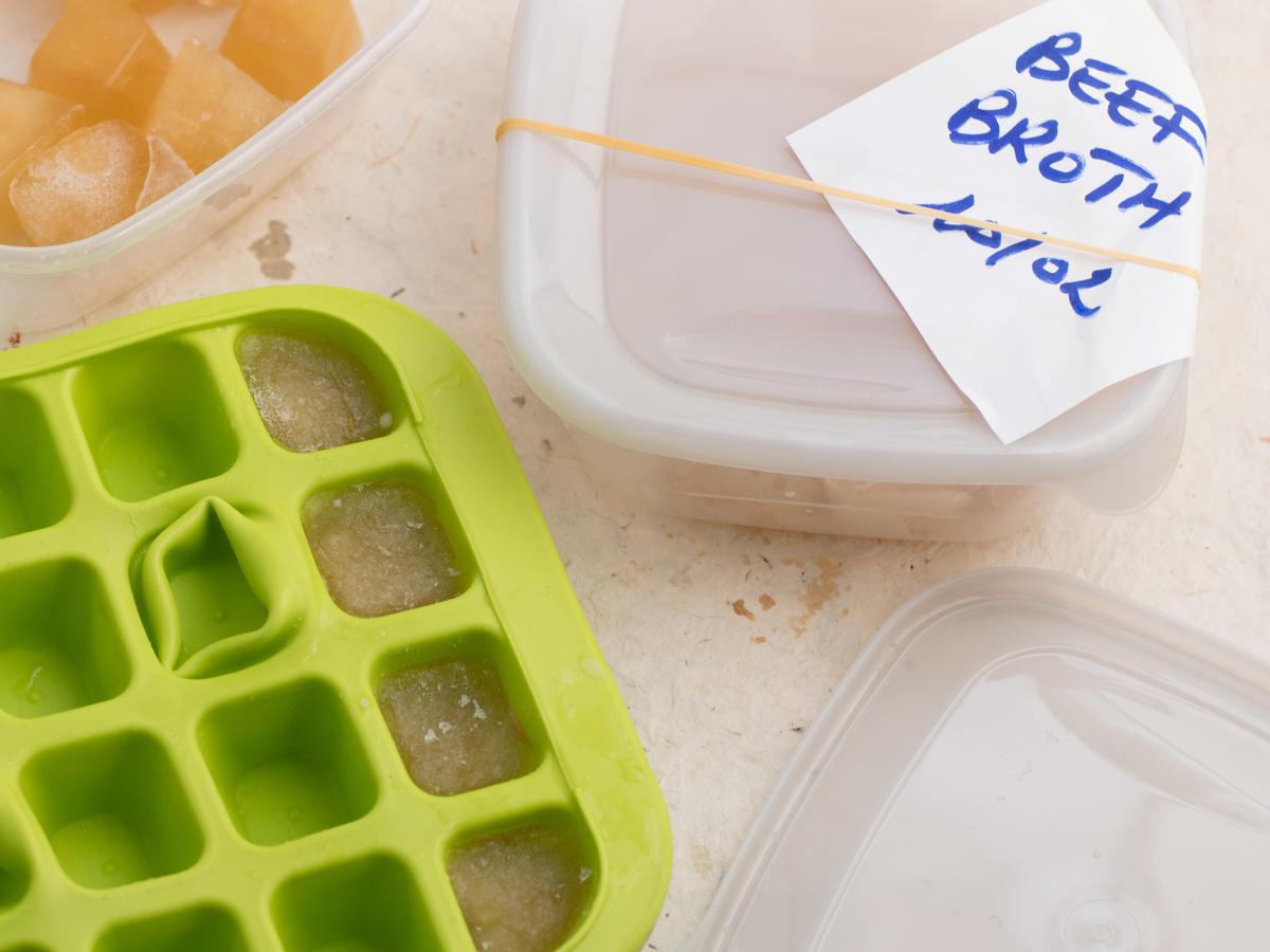 Broth in Ice Trays