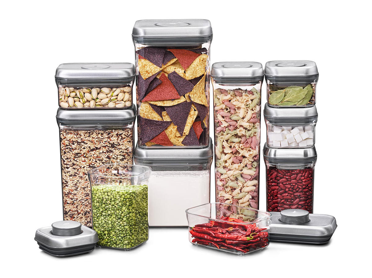 POP 10-Piece Stainless Lid Airtight Food Storage Set