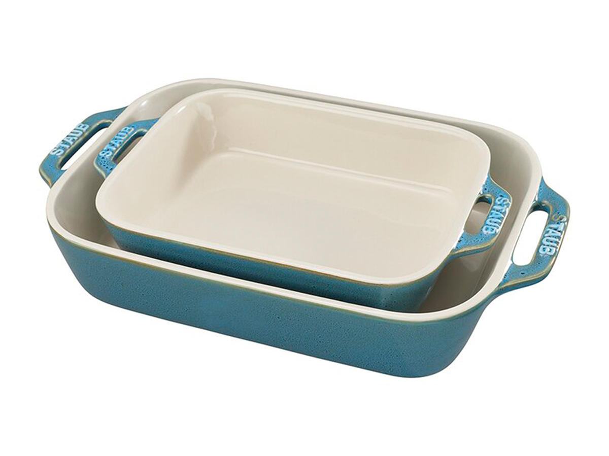 Staub Ceramics 2 Piece Stoneware Baking Dish Set