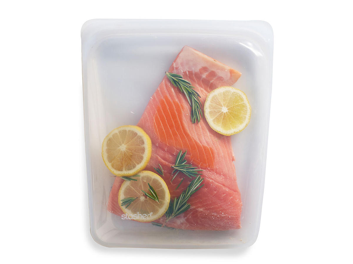Stasher Reusable Silicone Storage Bag Clear