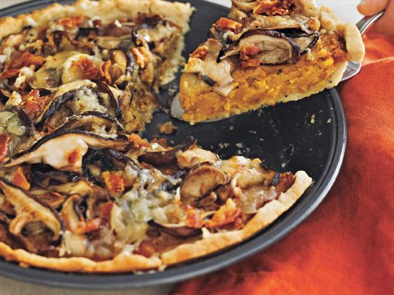 Butternut, Squash, and Mushroom Tart with Gruyère