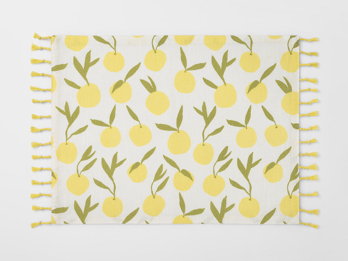 Lemon-Patterned Placemats
