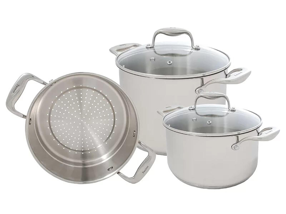 Concentrix 5-Piece Stainless Steel Cookware Set