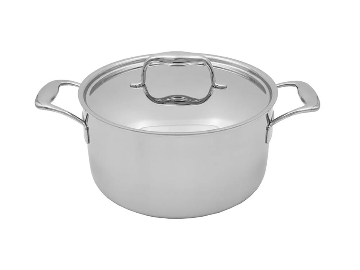 Tuxton Home Duratux 6 Qt. Tri-Ply Stainless Steel Round Dutch Oven