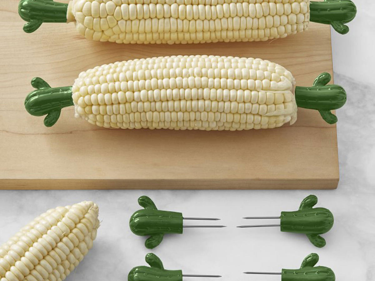 cactus-shaped corn cob holders