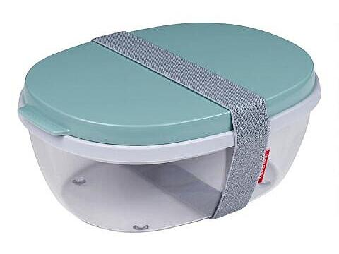 Mepal Green Ellipse Duo Salad Box