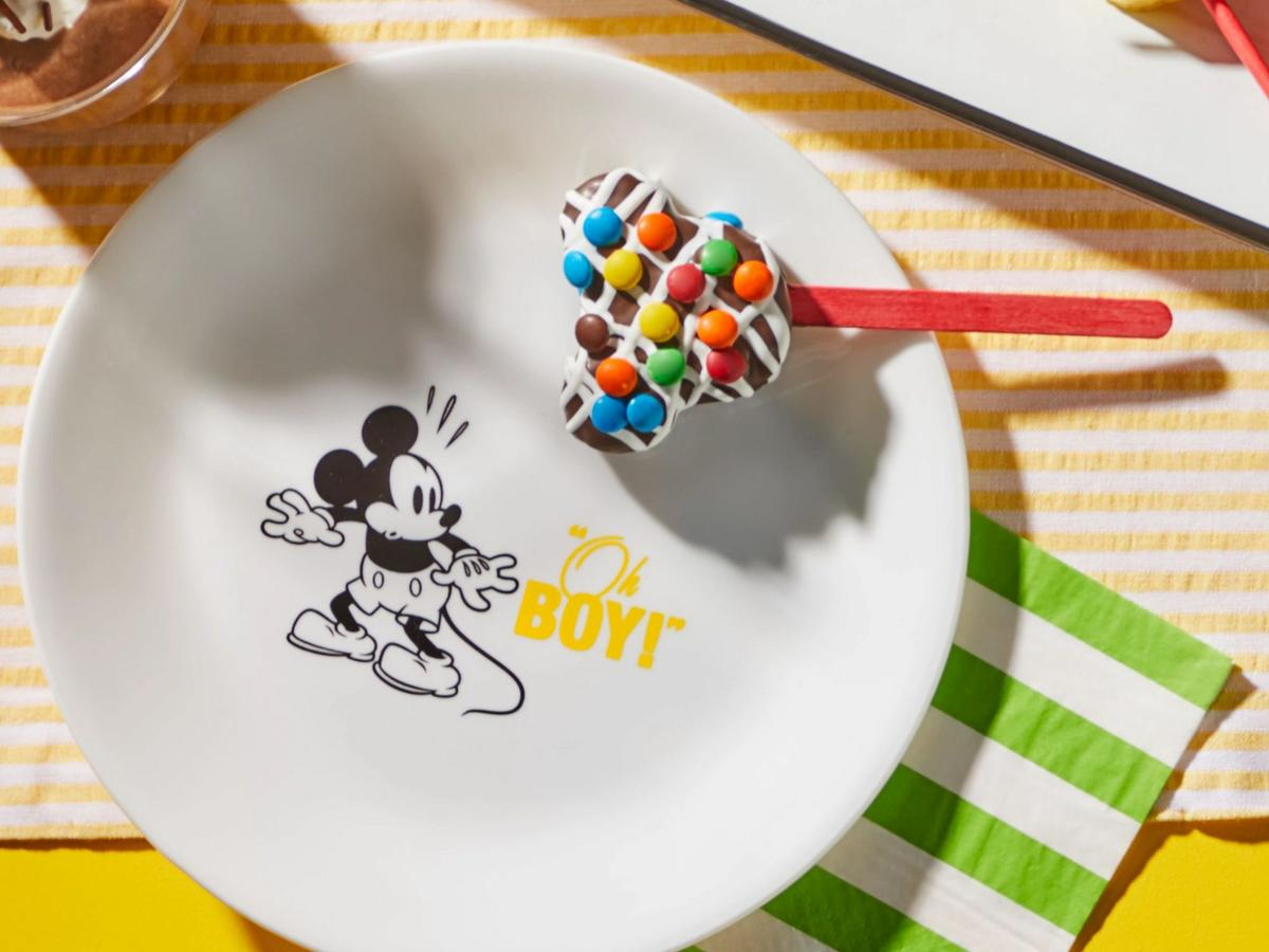 Yellow 8.5Mickey Mouse - Oh Boy Salad Plate.jpg