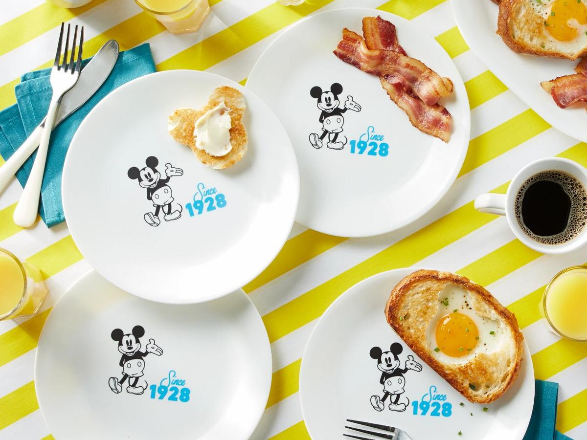 Blue 8.5Mickey Mouse - Since 1928 Salad Plate.jpg