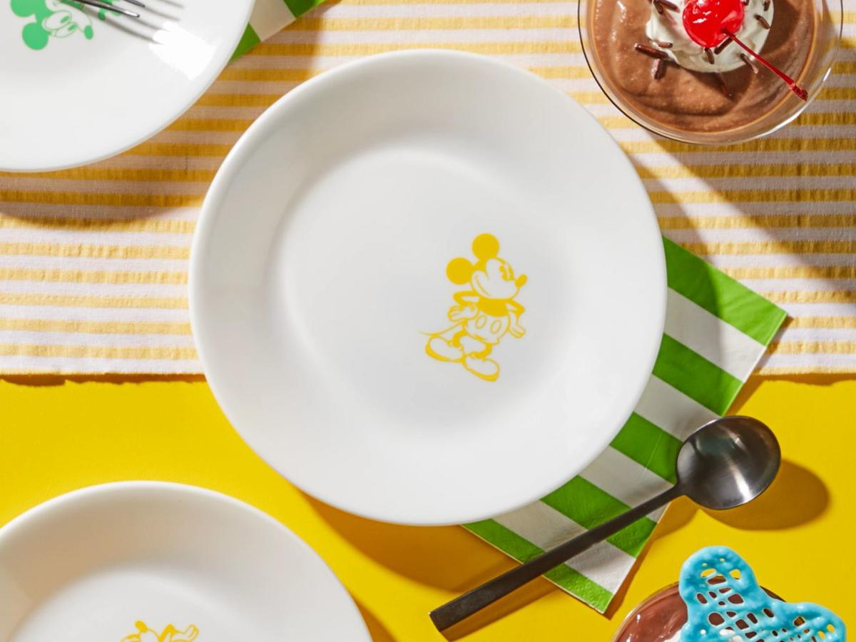 Yellow 6.75Standing Mickey Mouse Appetizer Plate.jpg