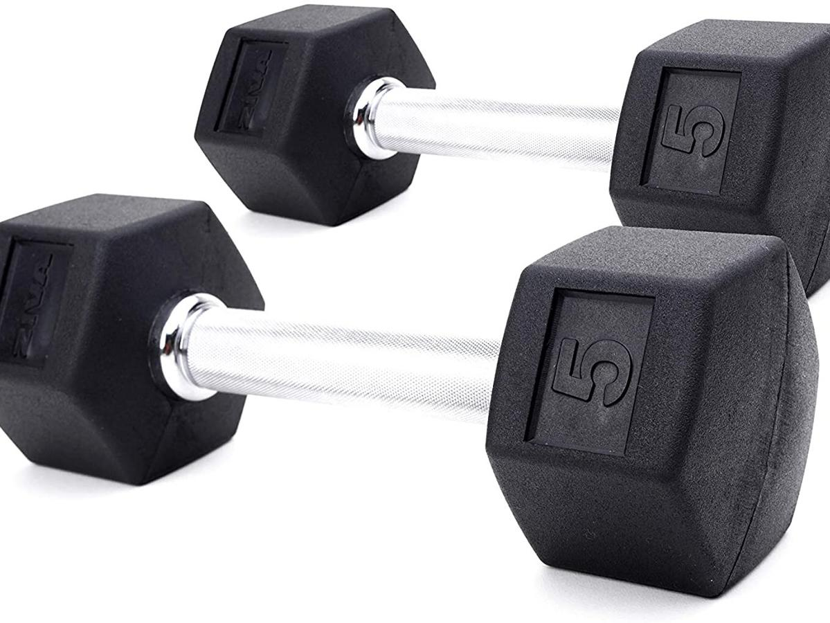 ZIVA Premium Rubber Hex Dumbbell