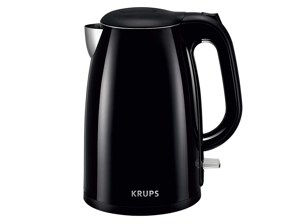 KRUPS Cool-touch Stainless Steel Double Wall Electric Kettle