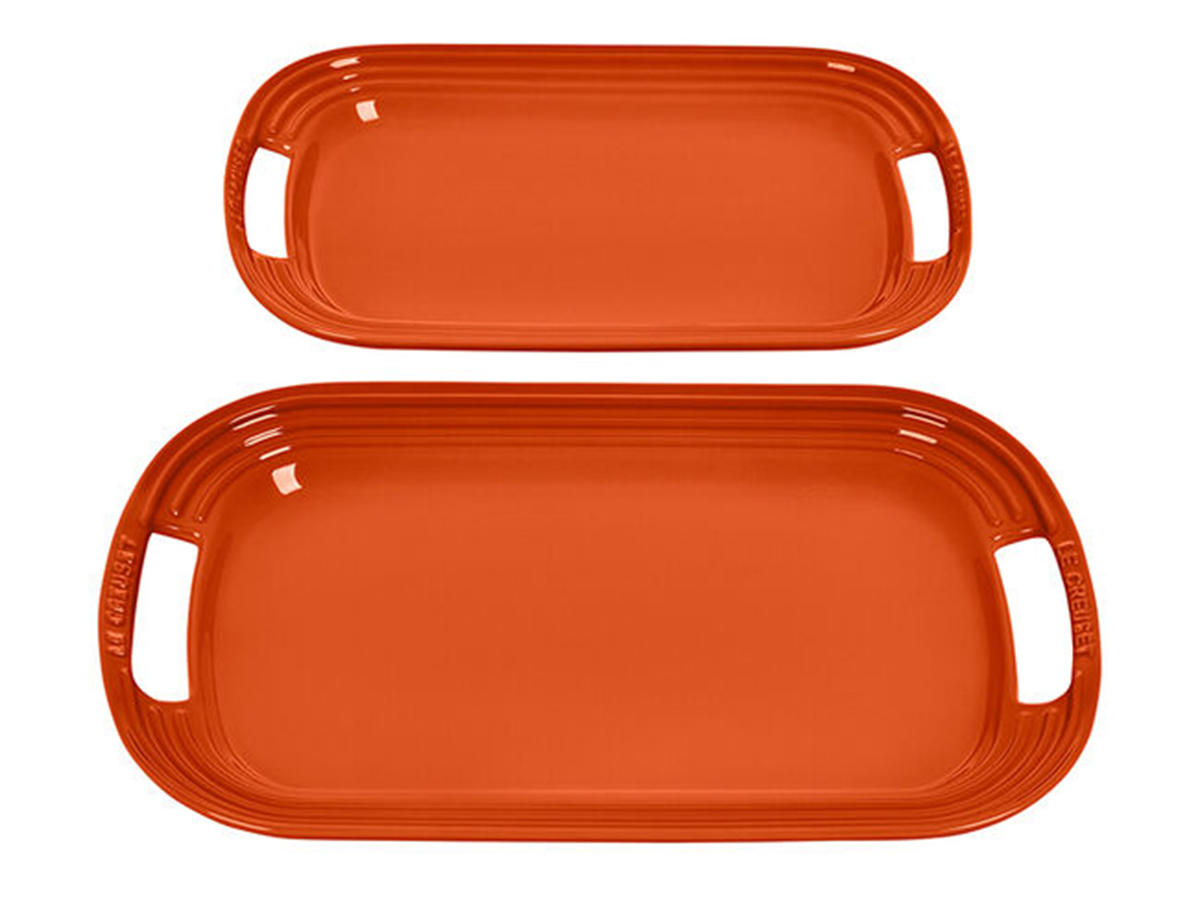le creuset serving platters set