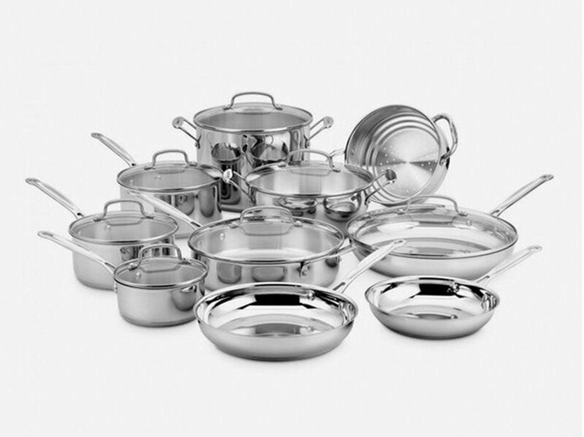 cuisinart chef's classic 17 piece stainless steel cookware set