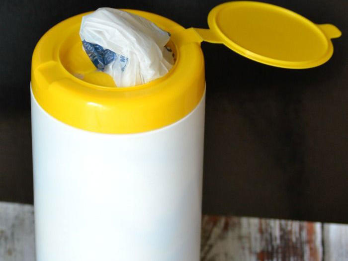Grocery Bags in Wipes Tube