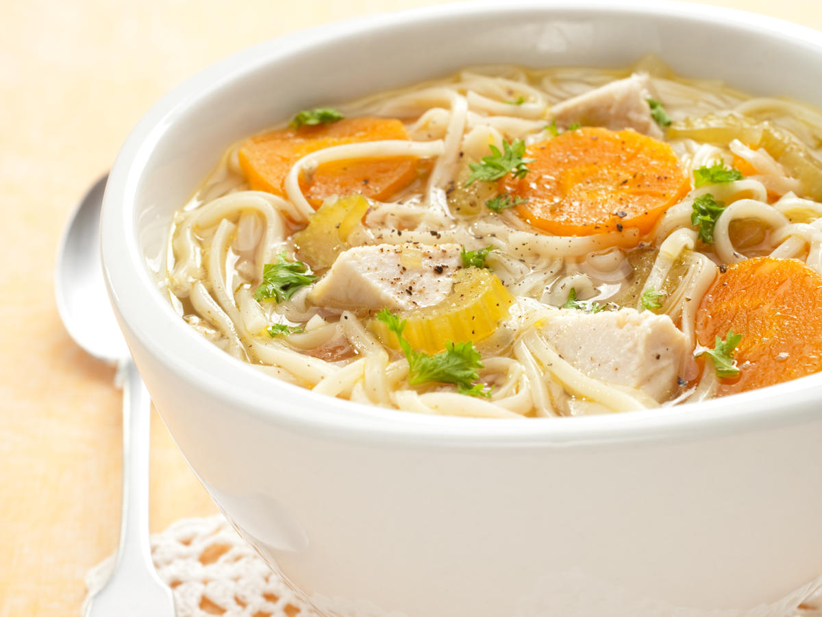 broth or stock based chicken soup
