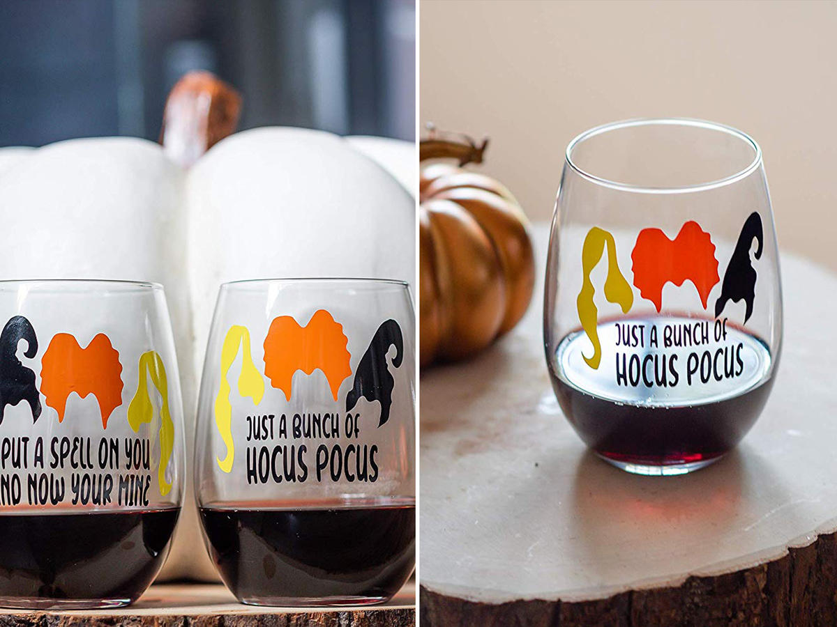 Hocus Pocus amazon wine glasses merchandise