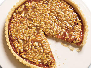Quince Tart with Pine Nut Caramel Glaze