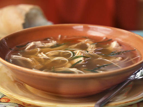 Chicken Noodle Soup with Fresh Tarragon