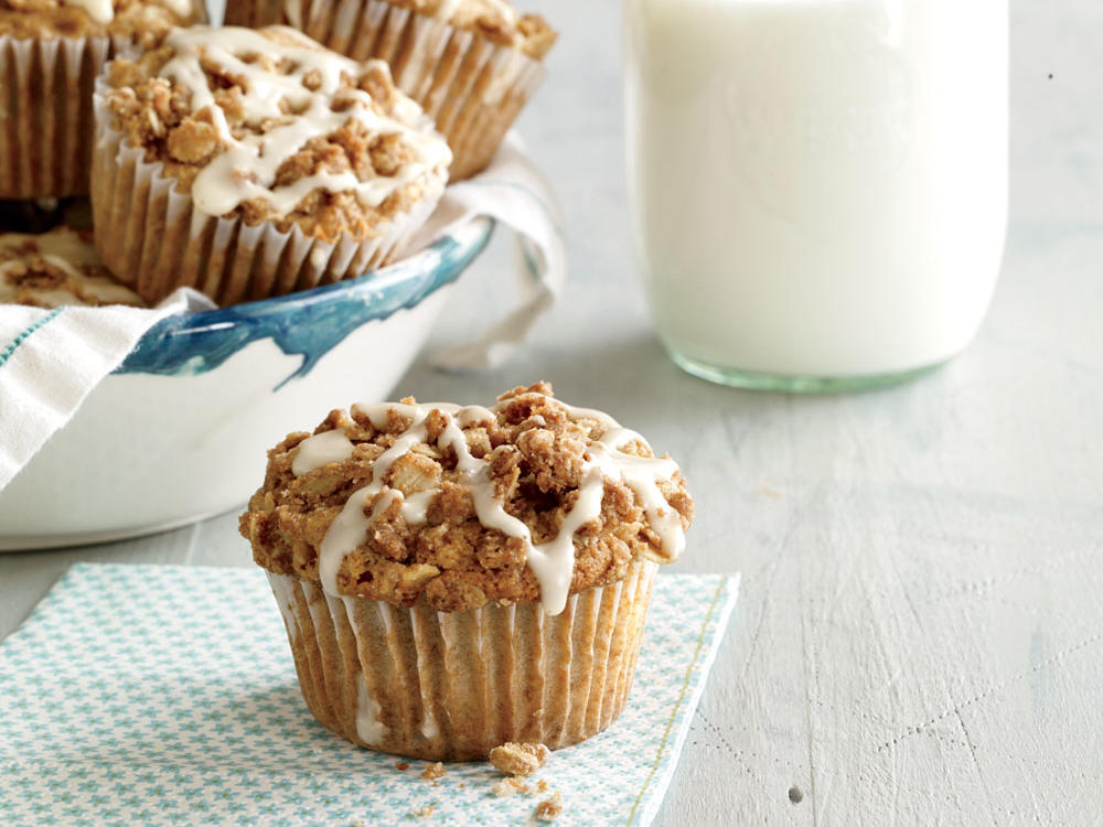 New Hampshire: Apple Streusel Muffins with Maple Drizzle