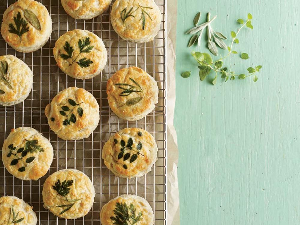 Herb-Laminated Biscuits
