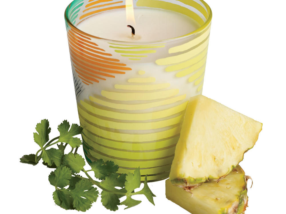 Pineapple Cilantro Boho Candle