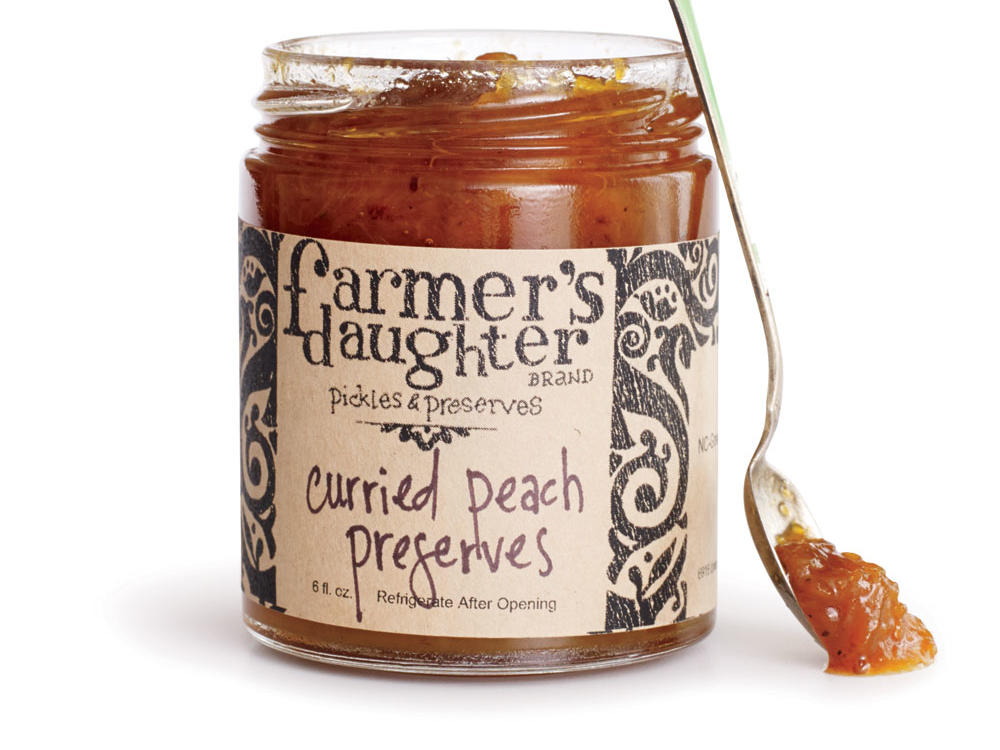 Curried Peach Preserves