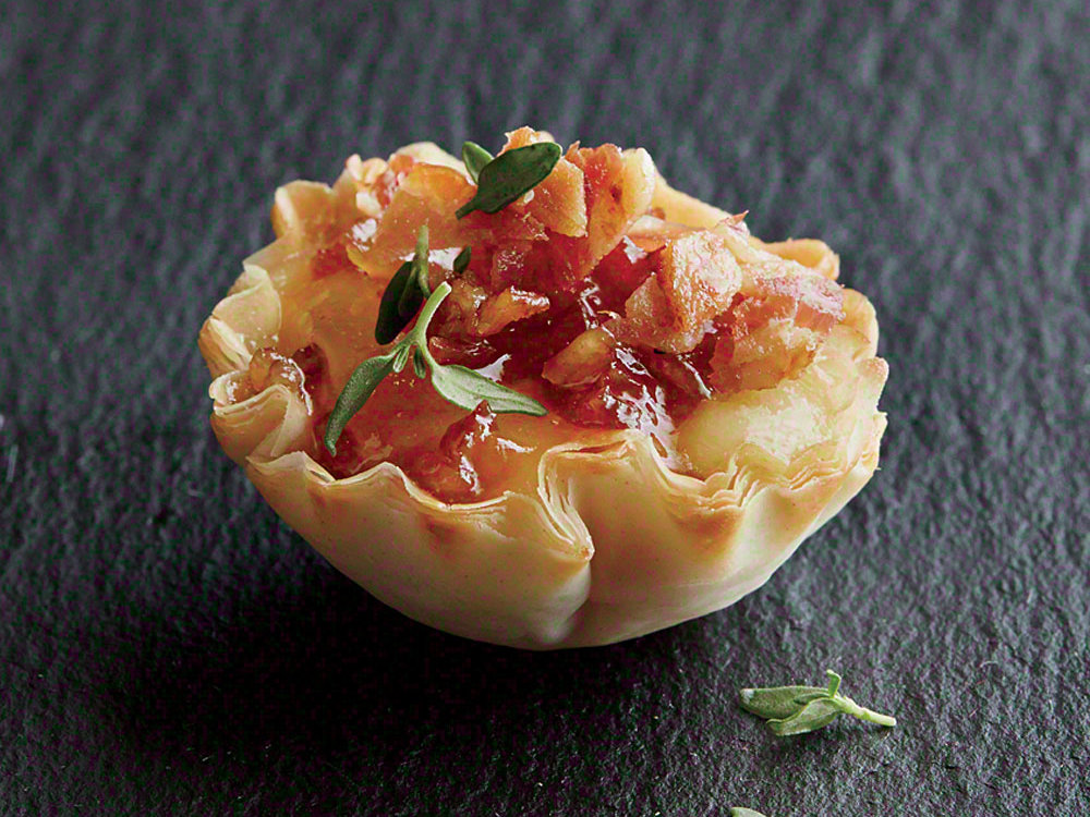 1604 Bacon Phyllo Cups