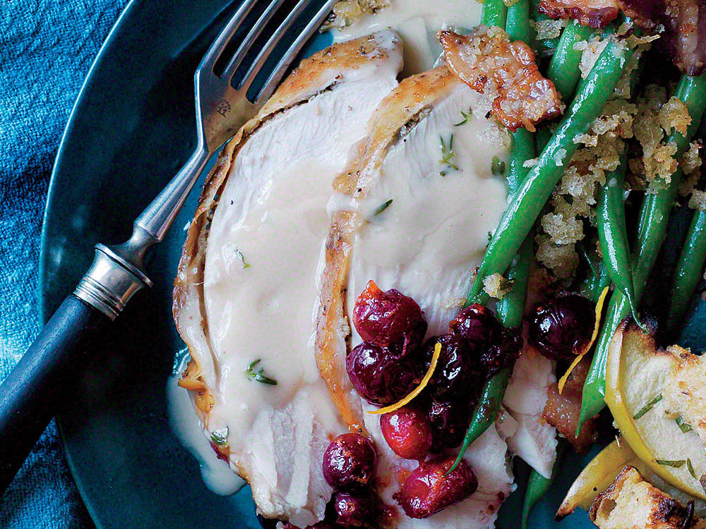 Fennel and Cumin-Roasted Turkey Breast with Thyme Gravy