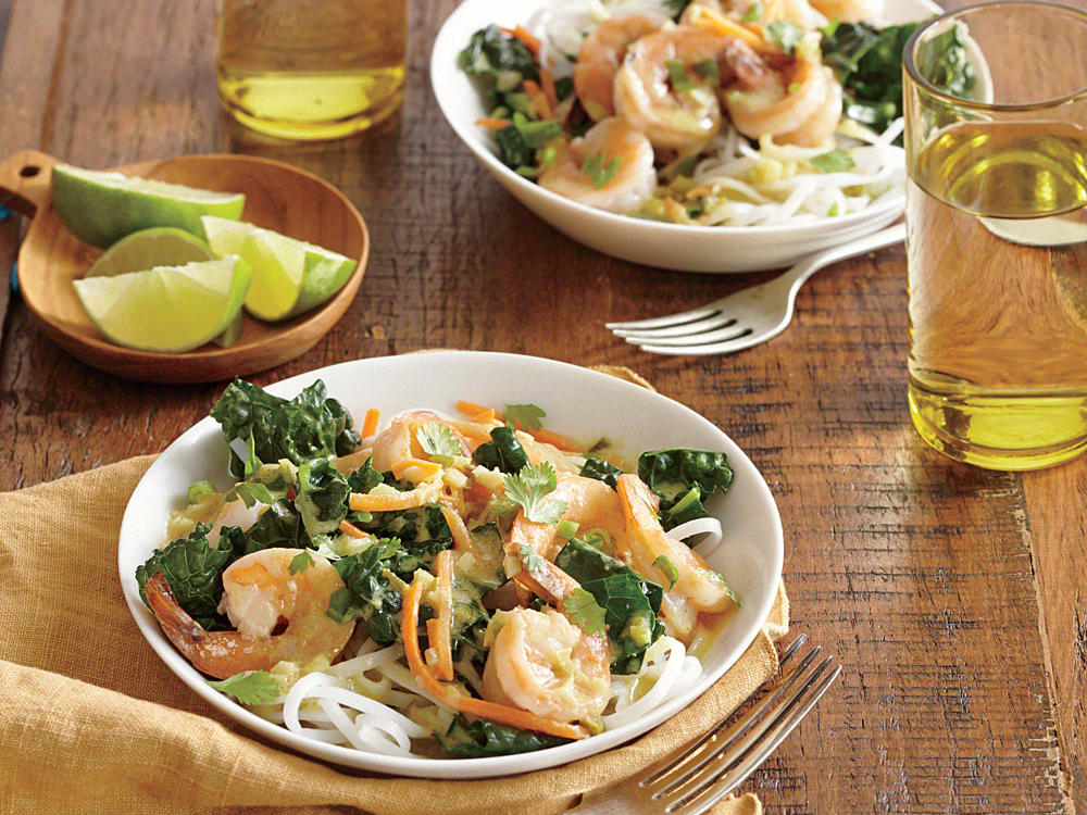 Thai Green Curry with Shrimp and Kale